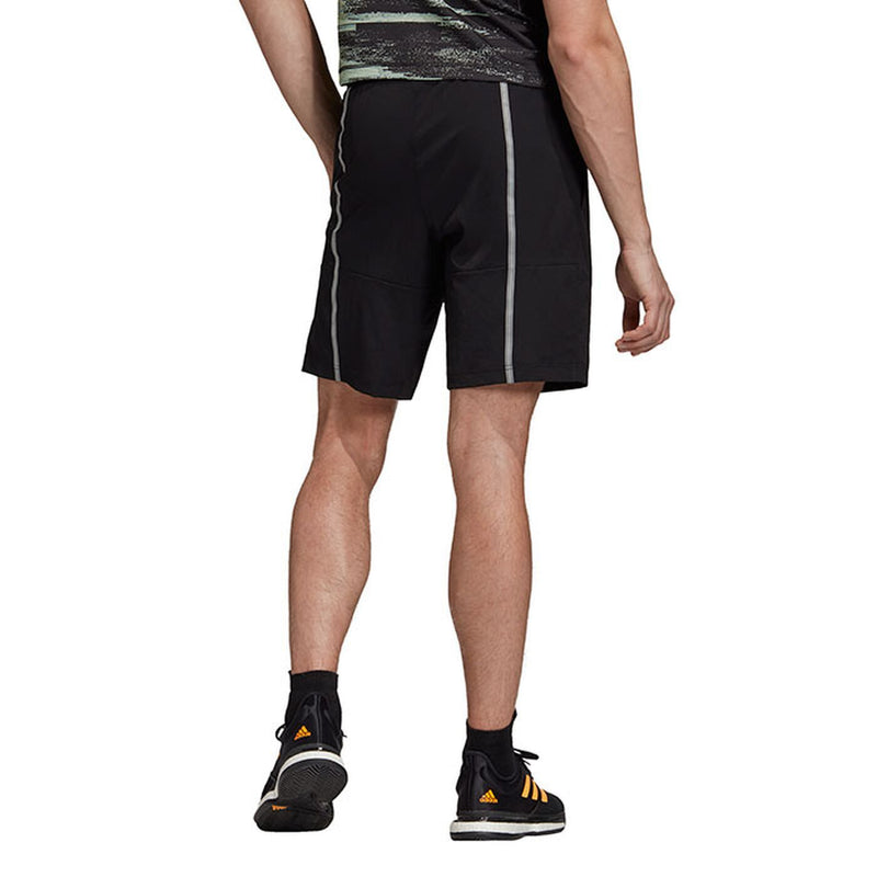Adidas New York Solid Short (Men's) - Black/Glow Green-Bottoms- Canada Online Tennis Store Shop