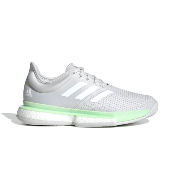 Adidas SoleCourt Boost (Women's) - Grey/White/Mint-Footwear- Canada Online Tennis Store Shop