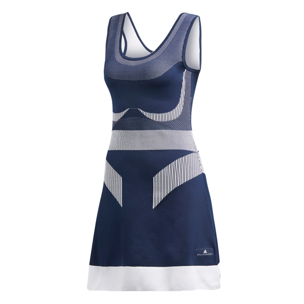 Adidas Stella McCartney Court Clubhouse Dress (Women's) - Night Indigo/White-Dresses- Canada Online Tennis Store Shop