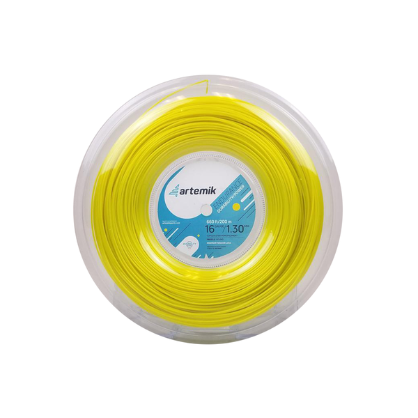Artemik Endurance 16 Reel (200m) - Yellow-Tennis Strings- Canada Online Tennis Store Shop
