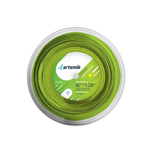 Artemik Spark 16 Reel (200m) - Green-Tennis Strings- Canada Online Tennis Store Shop