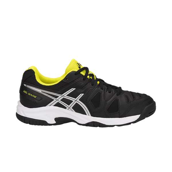 Asics Gel-Game 5 GS (Junior) - Black/Silver/Sulphur Spring-Footwear- Canada Online Tennis Store Shop