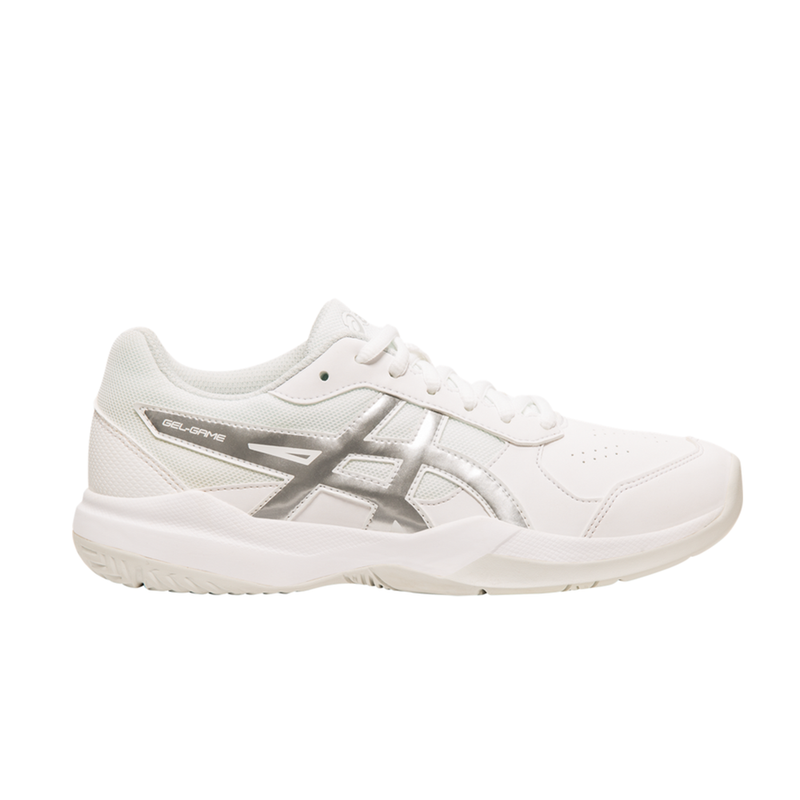 Asics Gel-Game 7 GS (Junior) - White/Silver-Footwear- Canada Online Tennis Store Shop