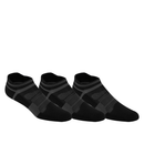 Asics Quick Lyte Single Tab 3 Pack (Unisex) - Black/Grey-Socks- Canada Online Tennis Store Shop