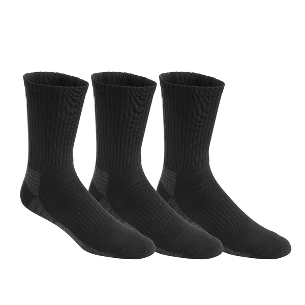 Asics Training Crew Socks 3 Pack (Unisex) - Black-Socks- Canada Online Tennis Store Shop