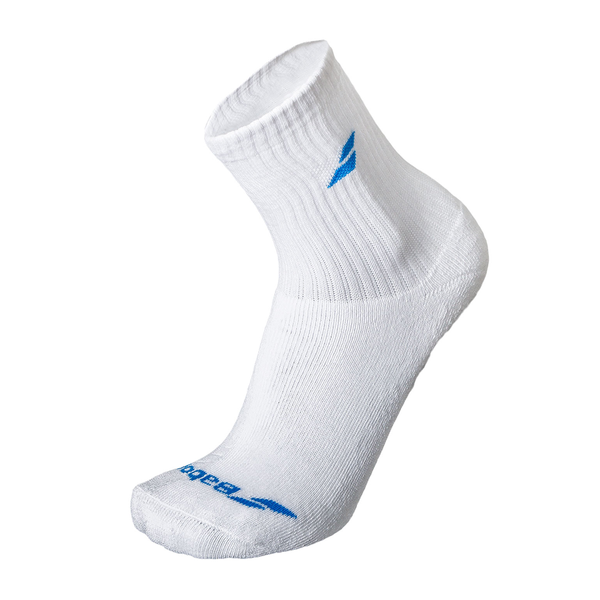Babolat 3 Pack Socks (Junior) - White/Blue-Socks- Canada Online Tennis Store Shop