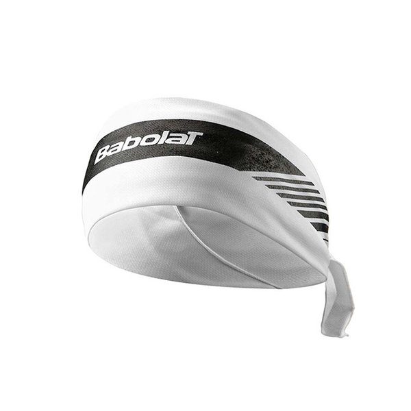 Babolat Bandana - White / Black-Headbands- Canada Online Tennis Store Shop