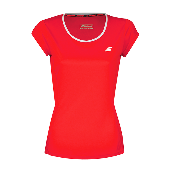 Babolat Core Flag Tee (Girl's) - Fluo Strike-Tops- Canada Online Tennis Store Shop