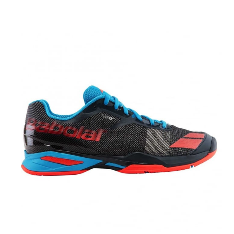 Babolat Jet All Court (Junior) - Grey/Blue/Red (Available size: 13.5, 1, 2)-Footwear- Canada Online Tennis Store Shop