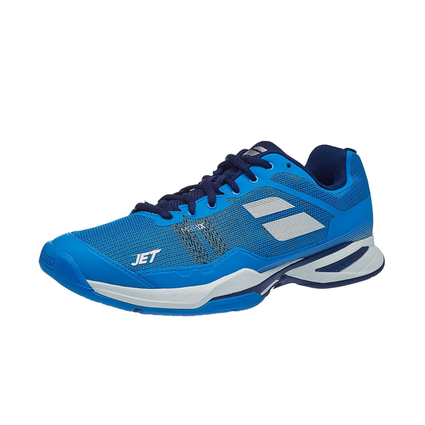 Babolat Jet Mach 1 Clay (Men's) - Estate Blue/White-Footwear- Canada Online Tennis Store Shop