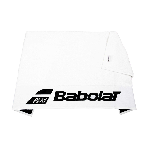 Babolat Logo Towel - White/Black-Towels- Canada Online Tennis Store Shop