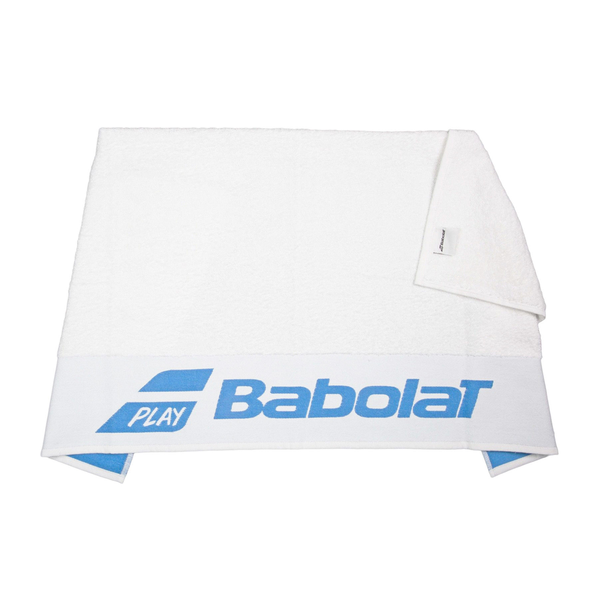 Babolat Logo Towel - White/Blue-Towels- Canada Online Tennis Store Shop