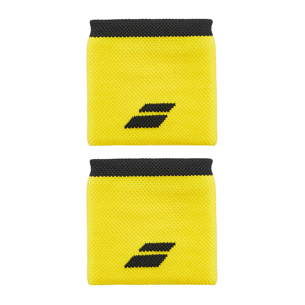 Babolat Logo Wristband (Unisex) - Yellow/Black-Wristbands- Canada Online Tennis Store Shop