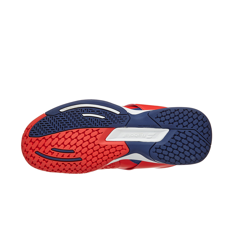 Babolat Propulse All Court (Junior) - Bright Red/Estate Blue-Footwear- Canada Online Tennis Store Shop