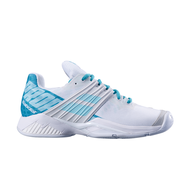 Babolat Propulse Fury All Court (Women's) - White/Mint Green-Footwear- Canada Online Tennis Store Shop