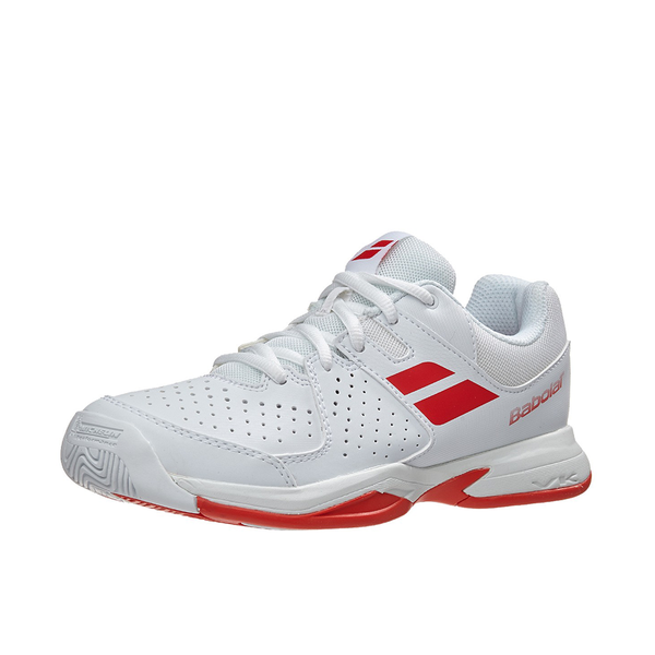 Babolat Pulsion All Court (Junior) - White/Bright Red (Available size: 2)-Footwear- Canada Online Tennis Store Shop