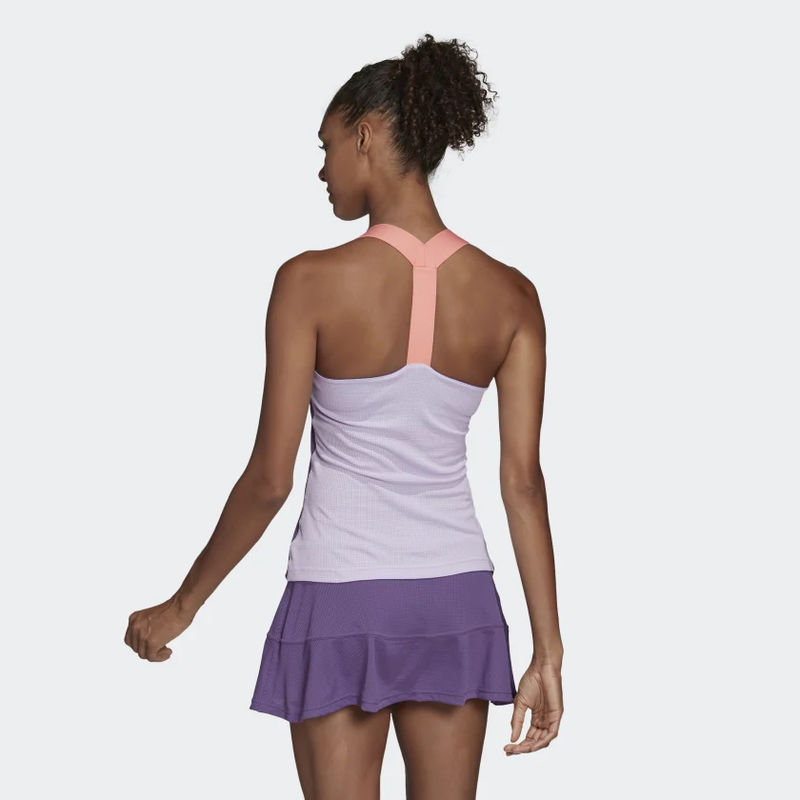 Adidas Gameset Heat.RDY Y-Tank (Women's) - Tech Purple/Shock Yellow