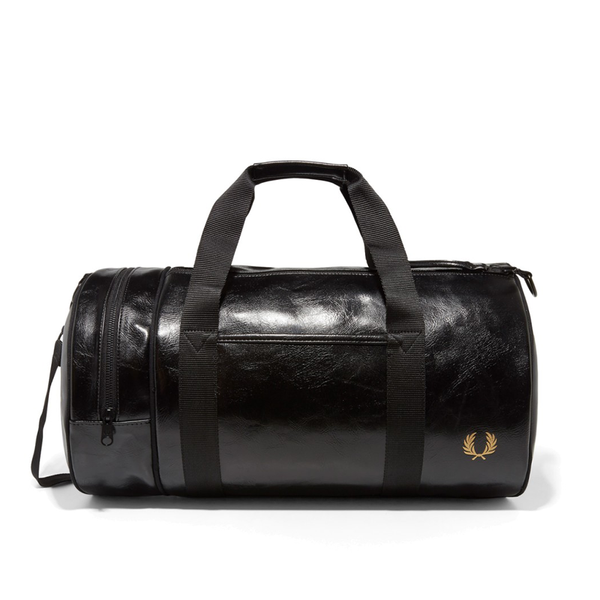 Fred Perry Classic Barrel Bag - Black/Gold-Bags- Canada Online Tennis Store Shop