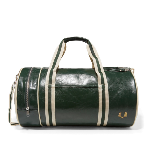 Fred Perry Classic Barrel Bag - Deep Forest/Ecru-Bags- Canada Online Tennis Store Shop