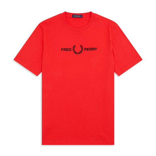 Fred Perry Graphic T-Shirt (Men's) - Red-Tops- Canada Online Tennis Store Shop