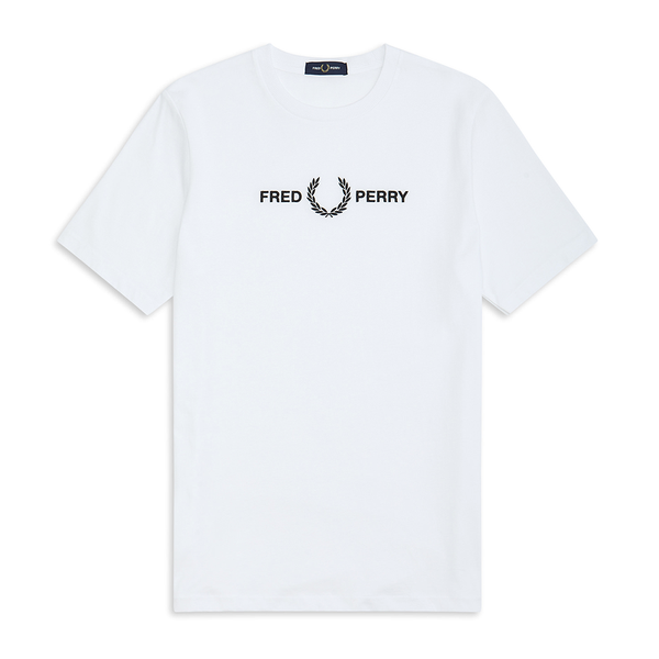 Fred Perry Graphic T-Shirt (Men's) - White-Tops- Canada Online Tennis Store Shop