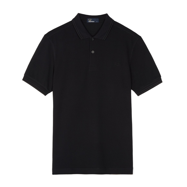 Fred Perry M3600 Polo Shirt (Men's) - Black/Black-Tops- Canada Online Tennis Store Shop