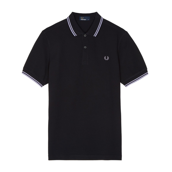 Fred Perry M3600 Polo Shirt (Men's) - Black/Fresh Lilac-Tops- Canada Online Tennis Store Shop