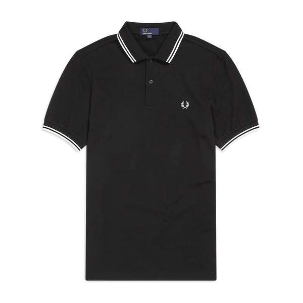 Fred Perry M3600 Polo Shirt (Men's) - Black/Porcelaine-Tops- Canada Online Tennis Store Shop