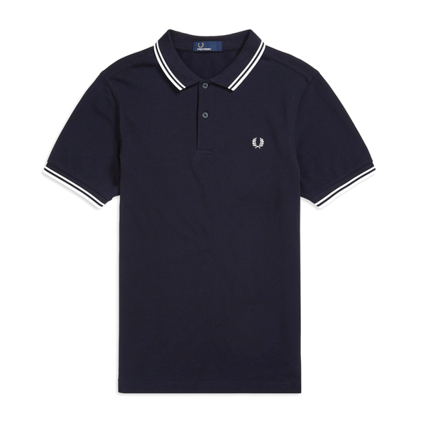 Fred Perry M3600 Polo Shirt (Men's) - Navy/White-Tops- Canada Online Tennis Store Shop