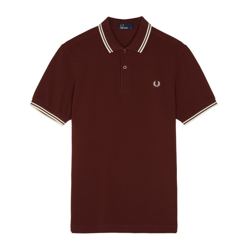 Fred Perry M3600 Polo Shirt (Men's) - Stadium Red/White-Tops- Canada Online Tennis Store Shop