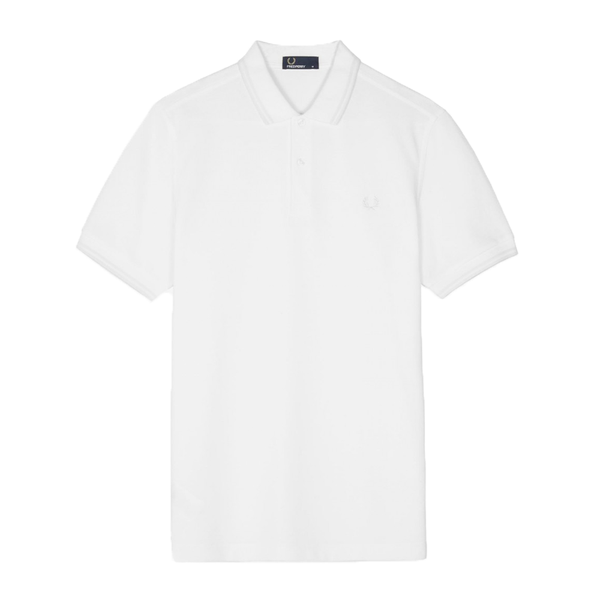 Fred Perry M3600 Polo Shirt (Men's) - White/White-Tops- Canada Online Tennis Store Shop
