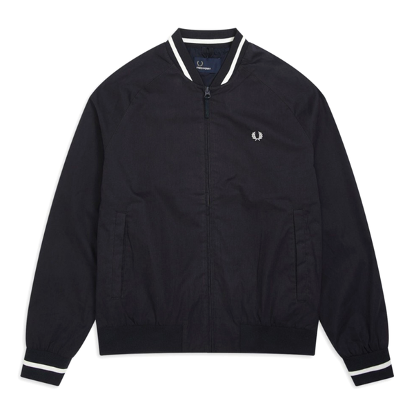 Fred Perry Tennis Bomber Jacket (Men's) - Dark Navy/White-Tops- Canada Online Tennis Store Shop