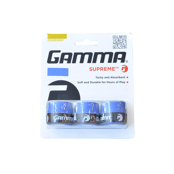 Gamma Supreme Overgrips (3-Pack) - Blue-Grips- Canada Online Tennis Store Shop