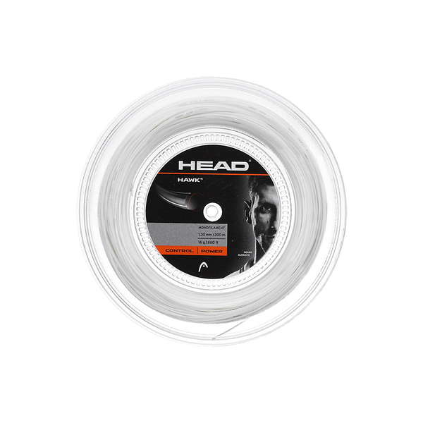 Head Hawk 16 Reel (200m) - White-Tennis Strings- Canada Online Tennis Store Shop