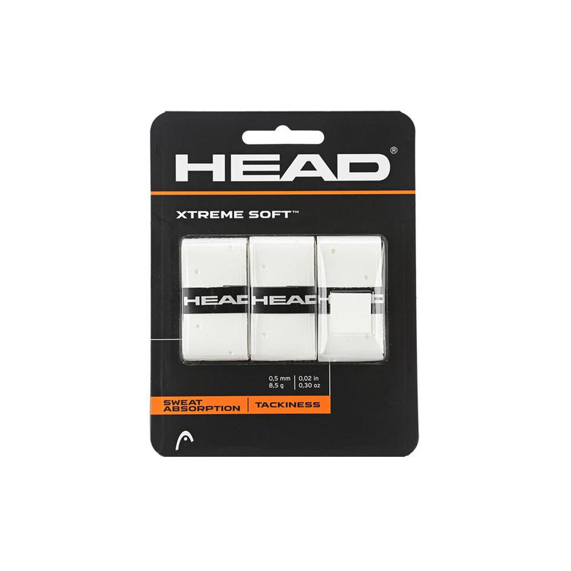 HEAD Xtreme Soft Overgrip (3 pack) - White-Grips- Canada Online Tennis Store Shop