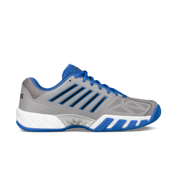 K-Swiss Big Kids Bigshot Light 3 (Junior) - Titanium/Blue-Footwear- Canada Online Tennis Store Shop