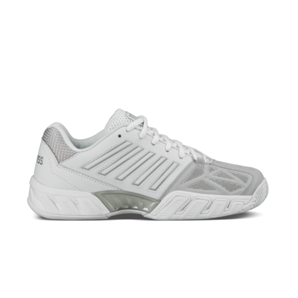 K-Swiss Big Kids Bigshot Light 3 (Junior) - White/Silver-Footwear- Canada Online Tennis Store Shop