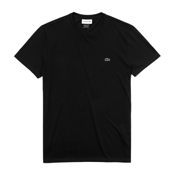 Lacoste Crew Neck Pima Cotton T-shirt (Men's) - Black-Tops- Canada Online Tennis Store Shop