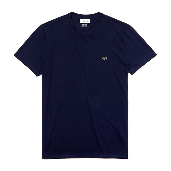 Lacoste Crew Neck Pima Cotton T-shirt (Men's) - Navy-Tops- Canada Online Tennis Store Shop