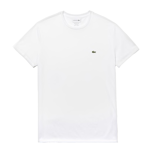 Lacoste Crew Neck Pima Cotton T-shirt (Men's) - White-Tops- Canada Online Tennis Store Shop