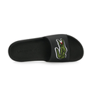 Lacoste Croco Slide 319 (Men's) - Black-Footwear- Canada Online Tennis Store Shop