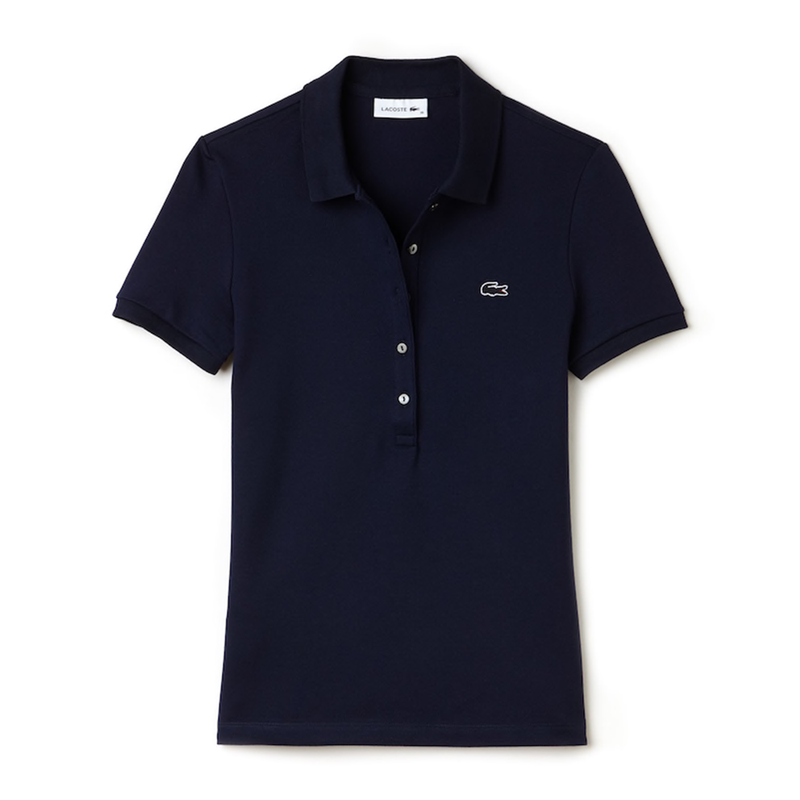 Lacoste Slim Fit Polo (Women's) - Navy Blue-Tops- Canada Online Tennis Store Shop