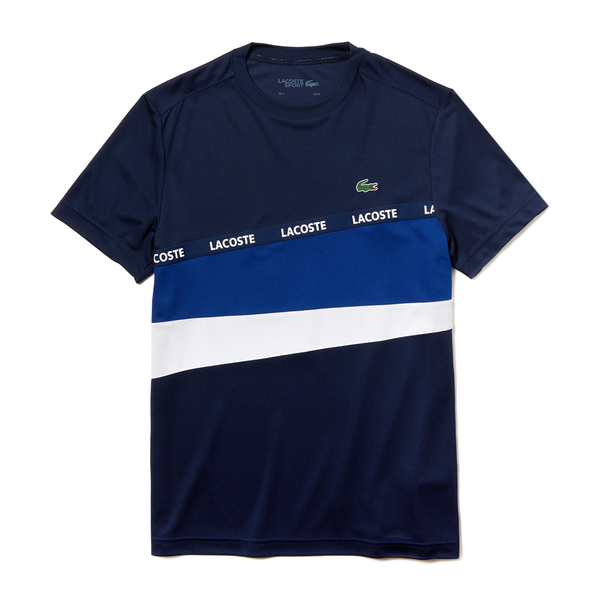 Lacoste SPORT Color-Block Piqué T-shirt (Men's) - Navy Blue/Navy Blue/White-Tops- Canada Online Tennis Store Shop