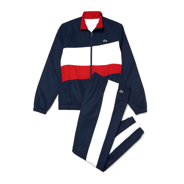 Lacoste Sport Colourblock Sweatsuit (Men's) - Navy/White/Red-Tops- Canada Online Tennis Store Shop
