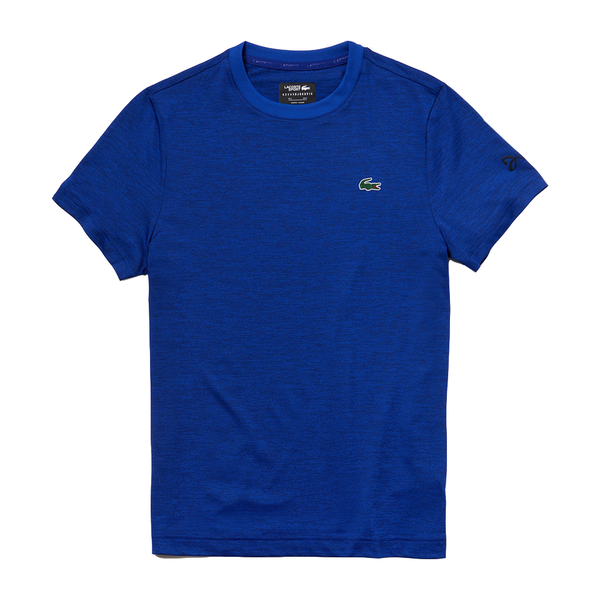 Lacoste SPORT Novak Djokovic Tech T-Shirt (Men's) - Blue/Black-Tops- Canada Online Tennis Store Shop