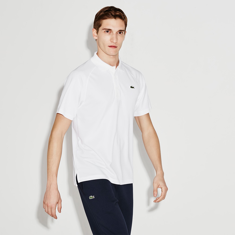 Lacoste Sport Technical Tennis Polo (Men's) - White-Tops- Canada Online Tennis Store Shop
