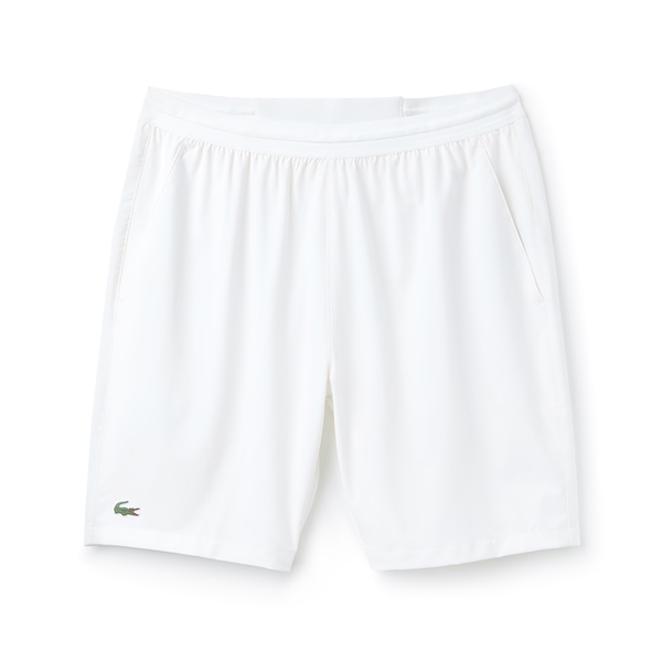 Lacoste Sport Tennis Stretch Shorts (Men's) - White-Bottoms- Canada Online Tennis Store Shop