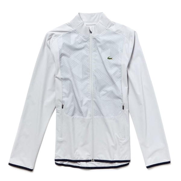 Lacoste Sport Zip Jacket (Men's) - Light Grey/Navy Blue-Tops- Canada Online Tennis Store Shop