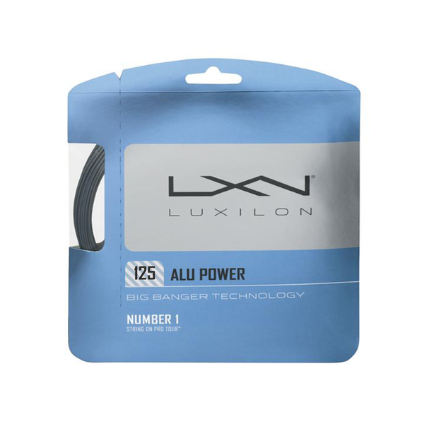 Luxilon Alu Power 125 Pack - Silver-Tennis Strings-online tennis store canada