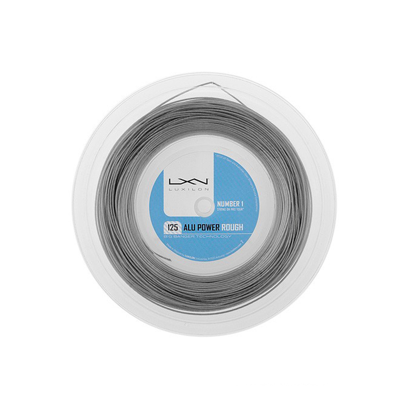 Luxilon Alu Power Rough 125 Reel (100m) - Silver-Tennis Strings- Canada Online Tennis Store Shop